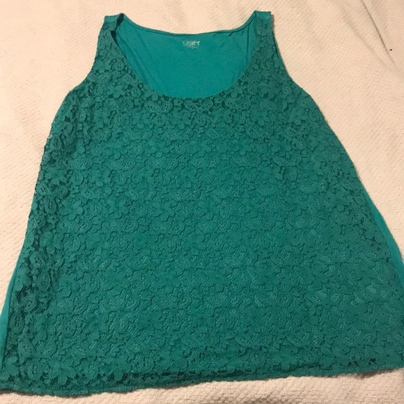 Teal Lace Top - ShopStyle